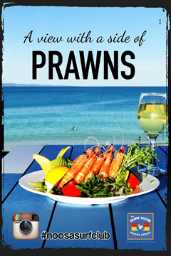 a view with a side of prawns