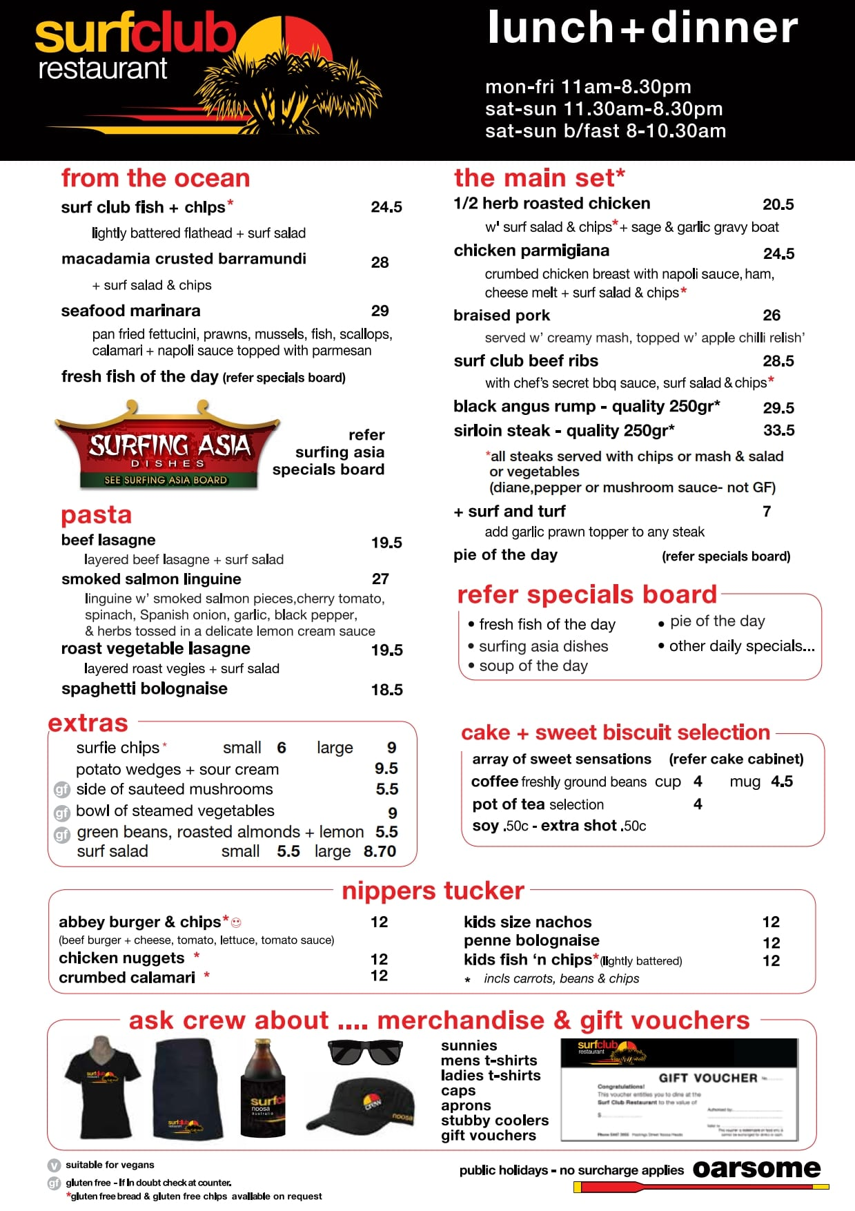 2019 05 24 Noosa Surf Club Menu Lunch And Dinner02